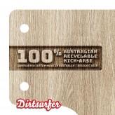 Dirtsurfer Wood Cut Logo mudguard