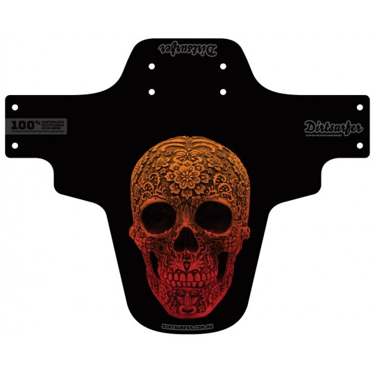 Carved Skull mudguard